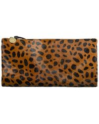 Clare V. Leopard Hair Foldover Clutch - Multicolor