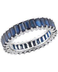 Dana Rebecca Kristyn Kylie Blue Sapphire Eternity Band - Multicolour