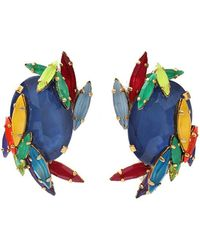 Erickson Beamon Rhinestone Splash Earrings - Blue