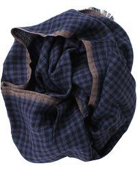 Brunello Cucinelli - Cashmere Silk Check Scarf - Lyst