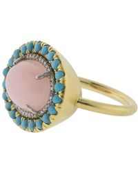 Irene Neuwirth Pink Opal Ring - Multicolor