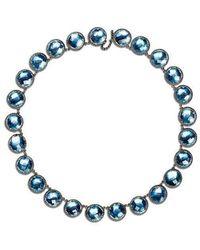 Larkspur & Hawk Sky Olivia Button Riviere Necklace - Metallic