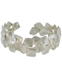 Boaz Kashi Silver Cut Out Bracelet - Metallic