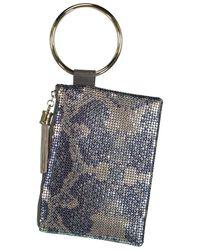 Whiting & Davis Python Tassel Wristlet - Blue