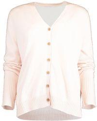 Allude V-neck Cardigan - Pink