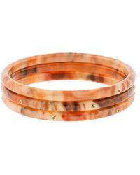 Mark Davis - Set Of Three Orange Multi Color Bakelite Bangles - Lyst