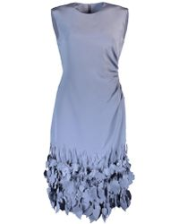 Catherine Regehr Jewel Neck Aimee Dress - Blue