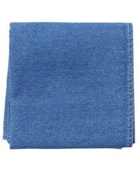Brunello Cucinelli Light Wash Pocket Square - Blue