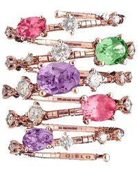 Mattia Cielo Rugiada Rainbow 5 Wrap Ring - Multicolour