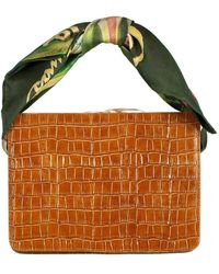 Montunas Leather Guaria Scarf Handle Bag - Multicolor