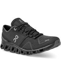 On Running Black And Asphalt Cloud X Running Shoe