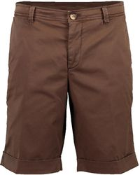 Brunello Cucinelli Flat Front Cuffed Short - Brown