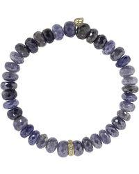 Sydney Evan - Diamond Rondelle Charm Bracelet - Lyst