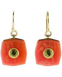 Mark Davis - Pink Bakelite Earrings With Peridot - Lyst