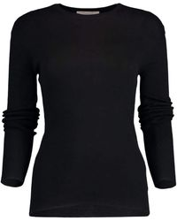 Michael Kors Featherweight Cashmere Top - Black