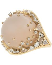Fernando Jorge - Pink Quartz And Diamond Fusion Ring - Lyst