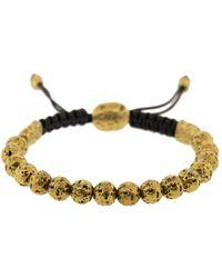 John Varvatos Brass Distressed Bead Bracelet - Multicolour