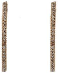 Yossi Harari - Lilah Cognac Diamond Pave Hoop Earrings - Lyst