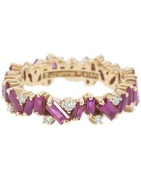 Suzanne Kalan Bliss Ruby Eternity Band - Multicolour