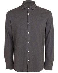 Eleventy Grigio Cotton Button Down Shirt - Grey