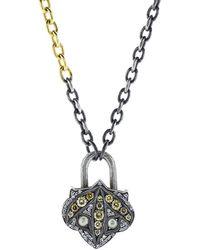 Sevan Biçakci - Lantern Mixed Diamond Lock Pendant - Lyst