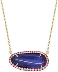 Katherine Jetter Opal And Pink E-coating Layering Necklace