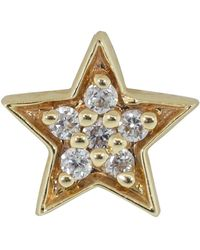 Andrea Fohrman Single Diamond Star Stud - Metallic