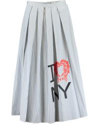 Rosie Assoulin - Pleated A Line Striped Skirt - Lyst