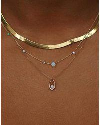 Wwake Linear Chain Necklace - Multicolour