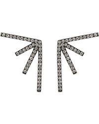 Eva Fehren - Diamond Sputnik Earrings - Lyst