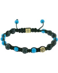 Shamballa Jewels Green Marble And Turquoise Bracelet - Multicolor