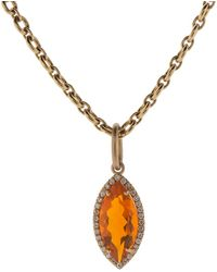 Irene Neuwirth Fire Opal And Diamond Pendant - Multicolour