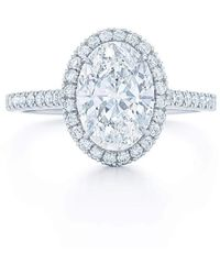 Kwiat Oval Diamond Engagement Ring - Blue