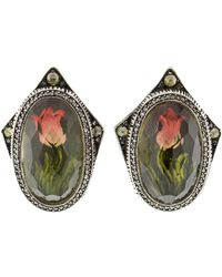Sevan Biçakci - Carved Tulip Diamond Stud Earrings - Lyst