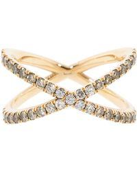 Eva Fehren Champagne Diamond Ombre Shorty Ring - Metallic