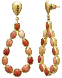 Gurhan Pointelle Coral Chandelier Earrings - Multicolour