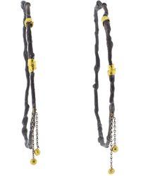 Boaz Kashi Dangle Hoop Earrings - Metallic