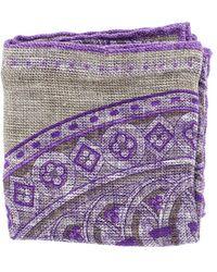Brunello Cucinelli Pocket Square - Purple