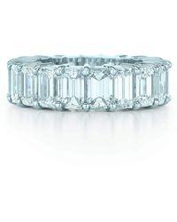Kwiat Ashoka Prong Set Eternity Diamond Band - Blue