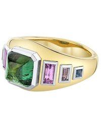 Emily P. Wheeler Green Tourmaline Sugarloaf Ring