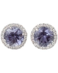 Dana Rebecca Anna Beth Iolite Stud Earrings With Diamond Pave - Multicolour