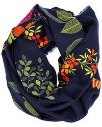 K. Janavi - Garden Embroidered Scarf - Lyst