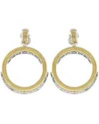 Nikos Koulis Baguette Diamond Hoop Earrings - Multicolor