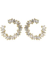Suzanne Kalan - Medium Spiral Diamond Baguette Earrings - Lyst