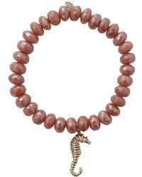 Sydney Evan - Seahorse Silverite Beaded Bracelet - Lyst
