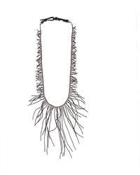 Brunello Cucinelli Ematite Long Branch Necklace - Metallic