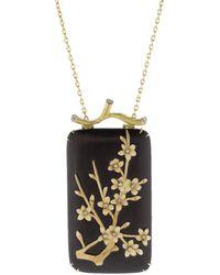 Silvia Furmanovich Marquetry Floral Pendant Necklace - Multicolour