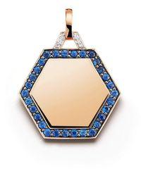 WALTERS FAITH Dora Blue Sapphire Hexagon Charm