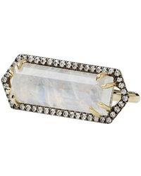 Jemma Wynne - Bar Ring With Emerald Cut Moonstone - Lyst