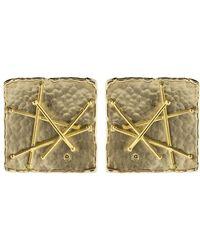 Boaz Kashi - Square Criss Cross Stud Earrings - Lyst